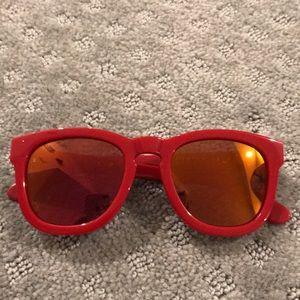 Brand new wild red mirror lens fox sunglasses